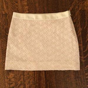 J.Crew Cream Lace Skirt - Size 0